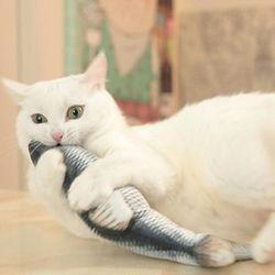 크레이지 피쉬 움직이는 고양이 장난감 생선 물고기