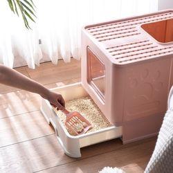 고양이화장실 사막화방지 투웨이화장실 보관용이