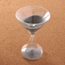 와인잔타임 유리 모래시계(실버)