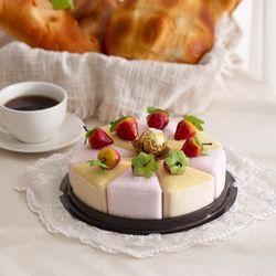 딸기 조각 케이크 모형