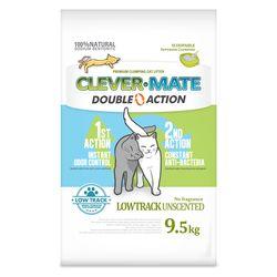 클레버메이트x2개 고양이모래벤토나이트 더블액션(무향) 9.5kg