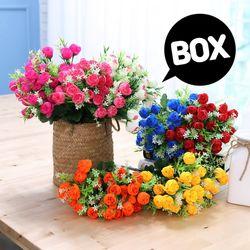 BOX판매 케이라로즈 15개 성묘 산소 꽃 납골당 조화