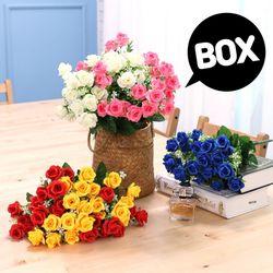 BOX판매 컬장미 12개 성묘 산소 꽃 납골당 조화