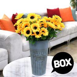 BOX판매 12대해바라기 12개 성묘 산소 꽃 납골당 조화