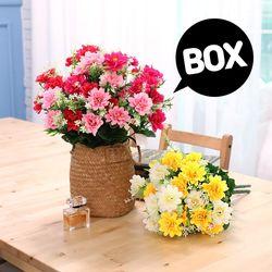 BOX판매 쏠데이지 12개 성묘 산소 꽃 납골당 조화