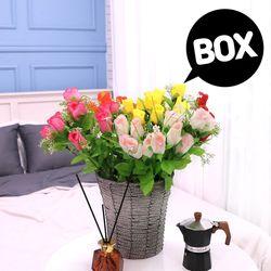BOX판매 안개봉장미 12개 성묘 산소 꽃 납골당 조화