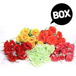 BOX판매 샬롯장미 12개 성묘 산소 꽃 납골당 조화