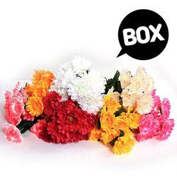 BOX판매 12대 국화 12개 성묘 산소 꽃 납골당 조화