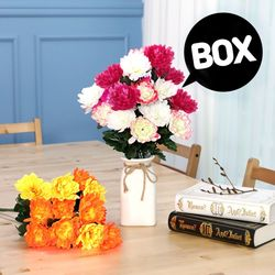 BOX판매 10대 국화 18개 성묘 산소 꽃 납골당 조화