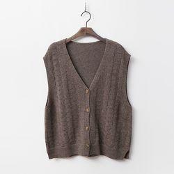 Cashmere Wool Button Vest