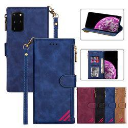 갤럭시노트10/플러스 거치 카드수납 지퍼 지갑 케이스