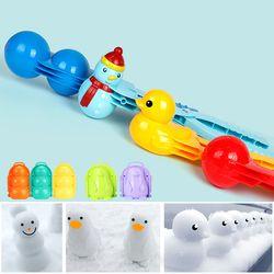 스노우볼 메이커 집게/눈사람 오리 곰 펭귄 만들기 틀