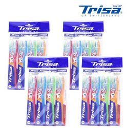 트리사 스마일 칫솔 미세모 4PX4 16P 7009