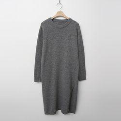 Wool Slit Knit Dress