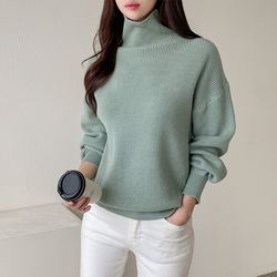 Puff Turtleneck Knit