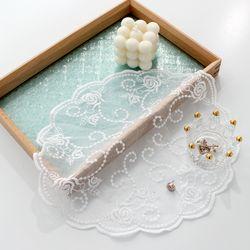 레이스 장미 줄기 테이블 매트 30CM