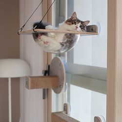 고양이 유리창 해먹스텝 윈도우 투명해먹