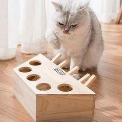 고양이 원목 오구오구 두더지 장난감 게임기