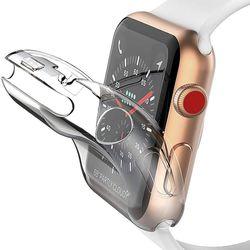 애플워치 6 SE 5 4 3 2 풀커버 투명 젤리 케이스