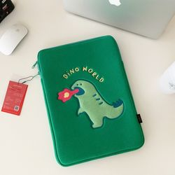 랩터공룡 laptop pouch (노트북 아이패드 파우치)