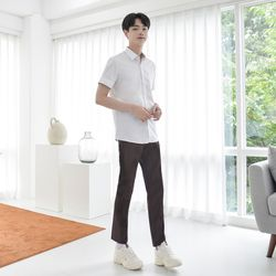 [빅사이즈]허리조절 하복 브라운 교복바지(남자) 6XL