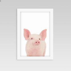 동물액자 아이방 인테리어 돼지
