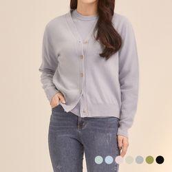 캐시미어 울 블렌디드 가디건 (7colors) CVCKB1102S