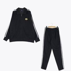 [교복아울렛] 블랙 화이트 라인 동복 체육복 (신일중)