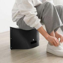 백스타일 휴대용 각접기 의자(블랙)