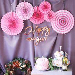 심플 파티 장식세트 (신년파티) 핑크