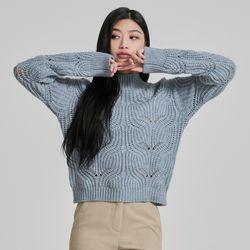 변형 조직 컬러 믹스 스웨터 MIWKAB126T