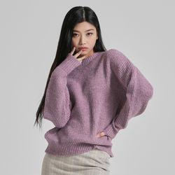 하찌 컬러 믹스 스웨터 MIWKAB136T