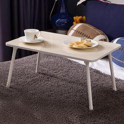 OA데스크 접이식 모던좌식테이블 소형(소파테이블사이드밥상)