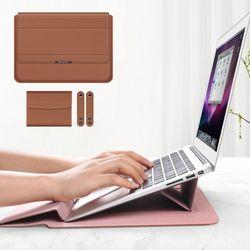VIC 3in1 노트북 거치대  파우치 1516인치브라운