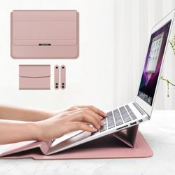 VIC 3in1 노트북 거치대  파우치 1314인치인디핑크