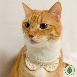 오가닉 왕관 꽃 턱받이 강아지턱받이 고양이턱받이