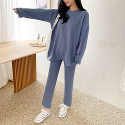 [SET] Mu Long Tee   Flare Pants