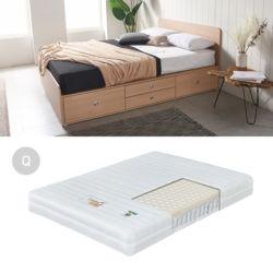 HUE 높은서랍침대세트Q-D 2인용 침대세트 퀸