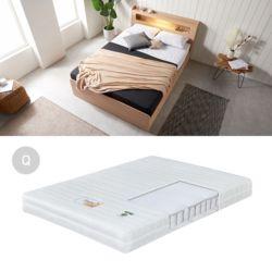 HUE 높은LED침대세트Q-B 침대조명 퀸 서랍침대