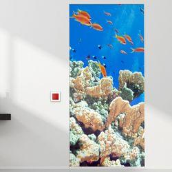 pm239-현관문시트지물고기가득한바다