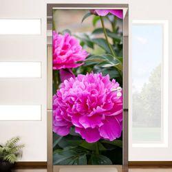 ps742-현관문시트지재물운높여주는작약꽃