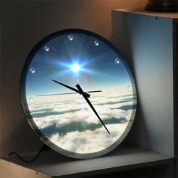 ng452-밝은미래로가는길LED시계액자35R