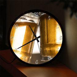 nf586-맥주한잔할시간LED시계액자35R