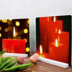 ps737-스촛불하나탠드액자2P