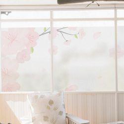 pb750-글라스시트지벚꽃흩날리는나무