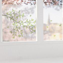 pb743-글라스시트지바람에날리는나뭇잎