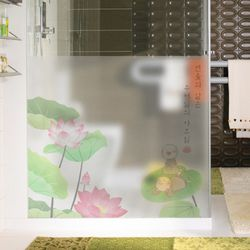 pb762-연글라스시트지꽃위동자승