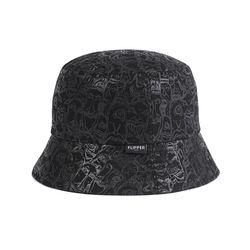 [디꾸보}빅사이즈 엔틱 패턴 벙거지 모자 H-ALL107R
