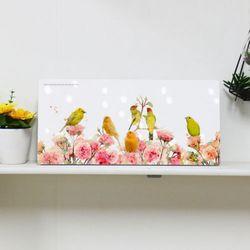 da702-행복의꽃과새들폼아크릴액자38CmX18Cm
