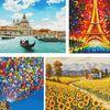 DIY 캔버스 보석십자수 풍경 시리즈 - 40x50cm